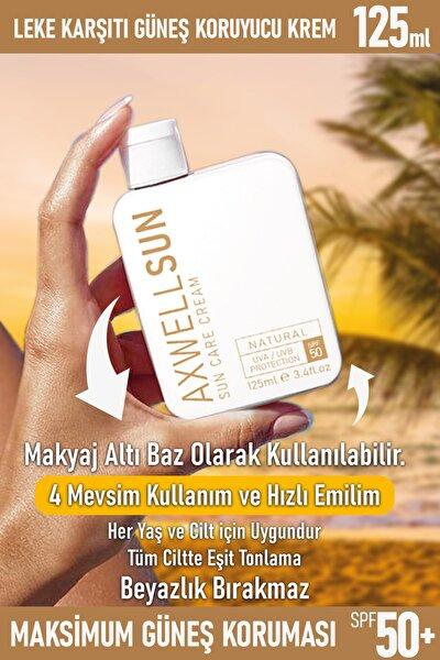 Premium Axwell Sun Care Cream- Leke Karşıtı Güneş Koruyucu Krem Spf50 125ml