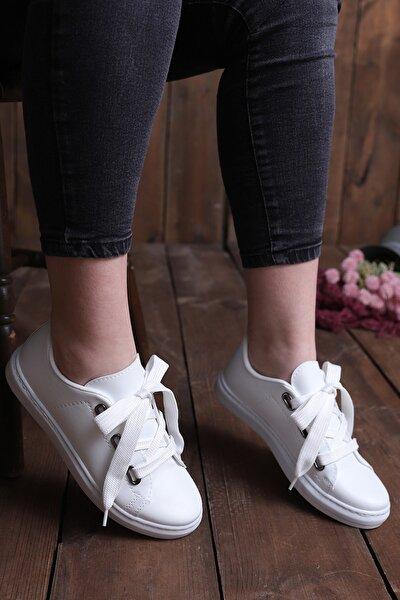 Kadın  Beyaz  Casual Ayakkabı