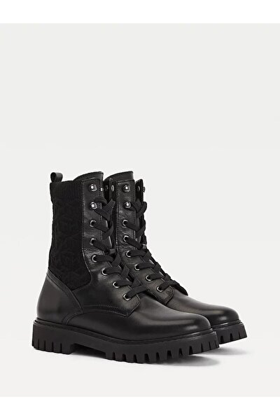 Th Knıtted Flat Boot
