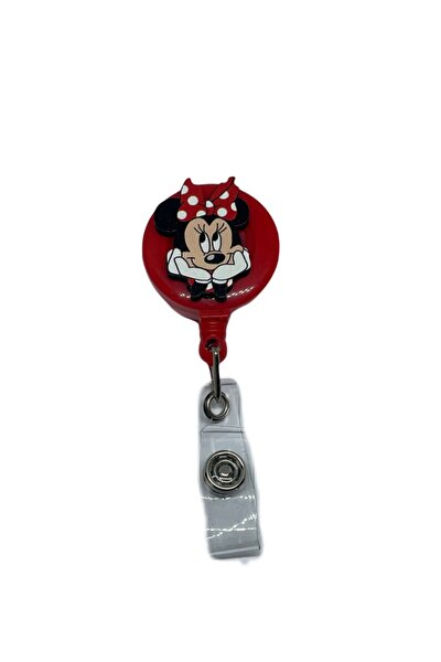 Minnie Mouse Puantiyeli Yoyo Yaka Kartlığı Yoyo Kartlık