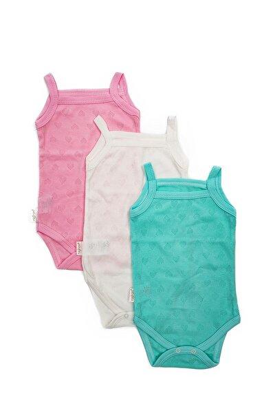 Kız Bebek Renkli 3 Adet Askılı Body
