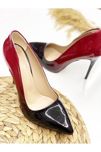 Kadın Kırmızı Dumanlı Topuklu Ayakkabı