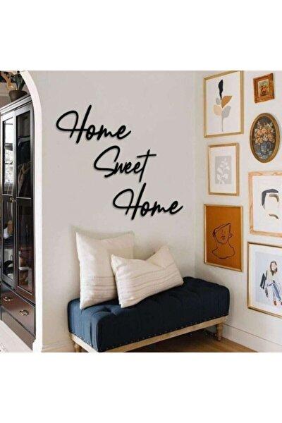 Home Sweet Home Duvar Tablosu Dekoratif Ahşap Tablo Kapı Süsü
