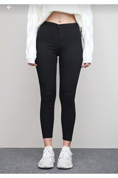 Kadın Dar Paça Yüksek Bel Likralı Pantolon