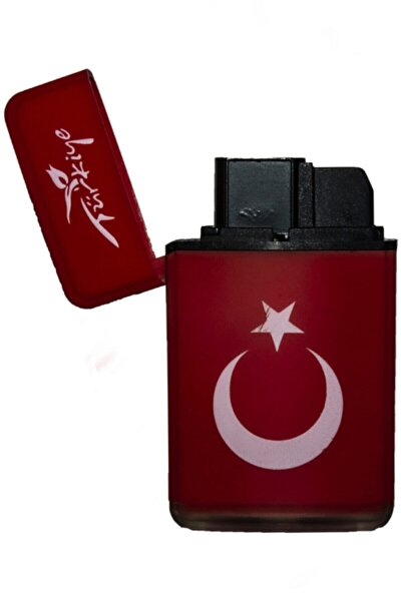 Çift Pürmüz Alev Mat Renk Çakmak Türk Bayrağı