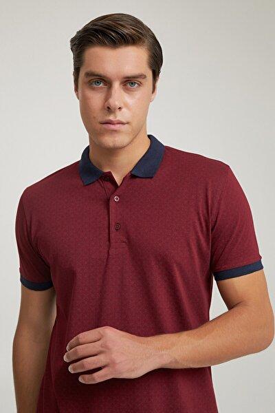Regular Fit Bordo Baskılı T-shirt