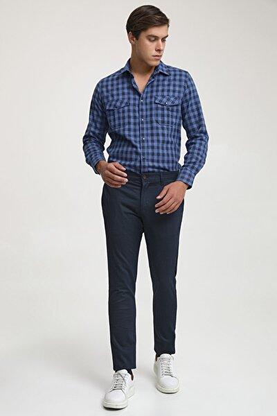 Slim Fit Lacivert Chino Pantolon