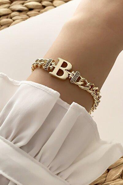 Gold B Harf Bileklik Trbilek7537 B34003