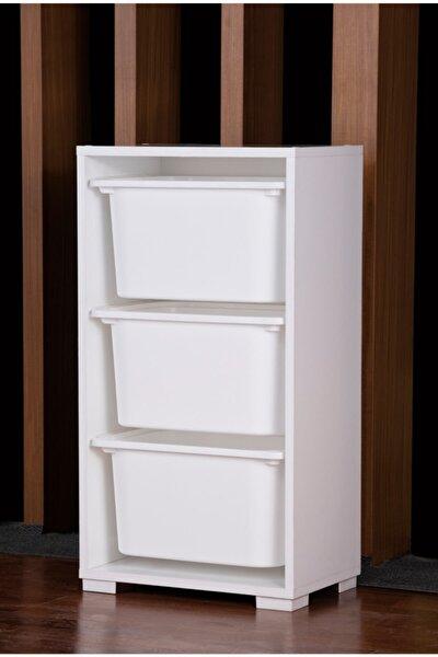 Vps-31-1 Vip Saklama Dolabı Beyaz 3 Büyük Plastik 152-003-0050
