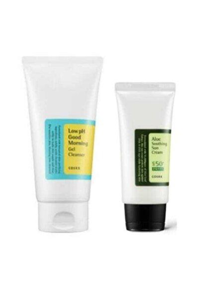 Aloe Soothing Sun Cream Spf50 Pa+++ + Low Ph Good Morning Gel Clean