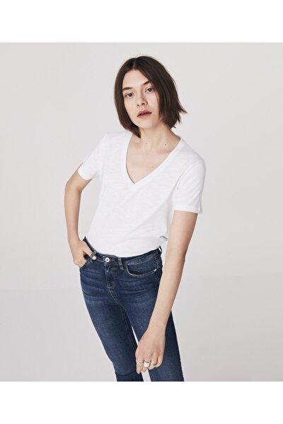 Kadın Beyaz Basic T-shirt
