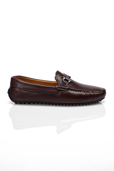 Kahve Hakiki Yumuşak Deri Erkek Loafer Ayakkabı