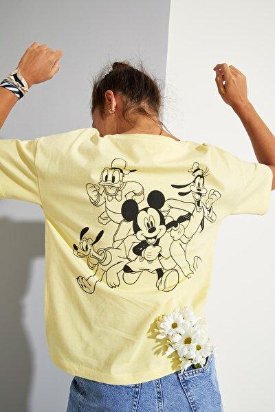 Disney Mickey And Friends Lisanslı Sırt Baskılı Kısa Kollu Tişört