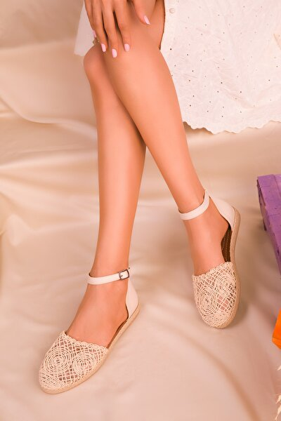 Bej-Ten Kadın Sandalet 15046