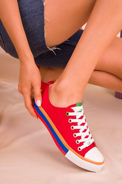 Kırmızı Kadın Sneaker 16375