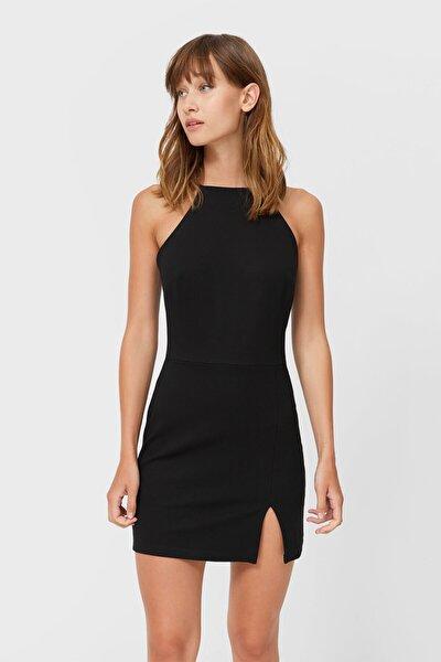 Halter Yaka Mini Elbise