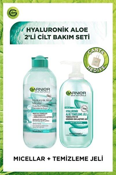 Hyaluronik Aloe 2li Cilt Bakım Seti - Temizleme Jeli & Micellar Kusursuz Makyaj Temizleme Suyu 400ml