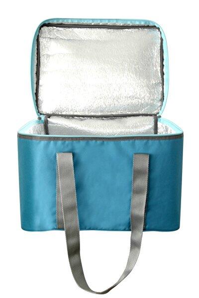 Isı Yalıtımlı Termo Kamp Piknik Paket Servis Çantası Fermuarlı Termal Çanta 36 Litre Mavi