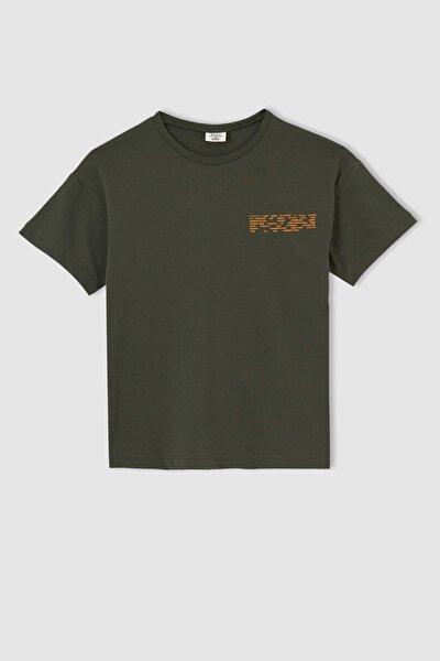 Erkek Çocuk Oversize Fit Sırt Baskılı Kısa Kollu Tişört