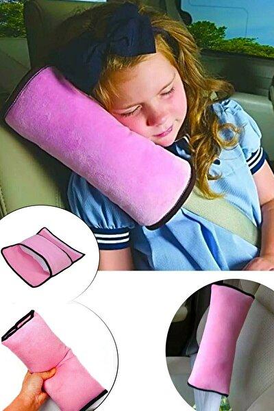 Araç Oto Emniyet Kemeri Tutucu Uyku Pedi Yastık Emniyet Yastığı Pembe