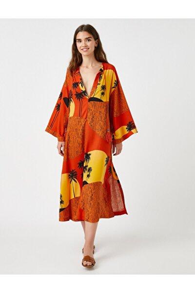 Desenli Yazlik Elbise