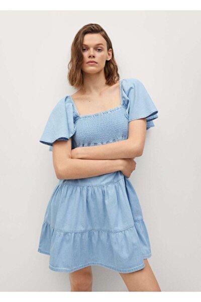 Fırfırlı Pamuklu Elbise