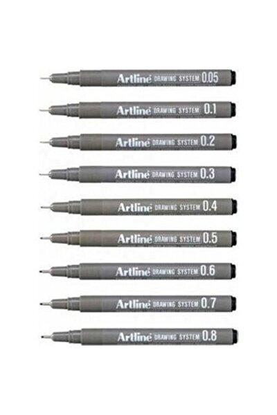 Drawing System Teknik Çizim Kalemi 9'lu Set
