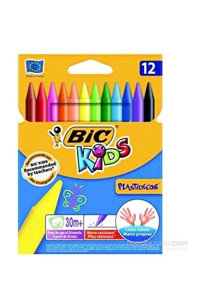 Çocuk 12 Renk Silinebilir Mum Pastel Boya