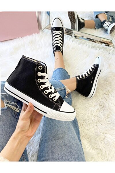 Unısex Siyah Uzun Cvrs Spor Ayakkabı