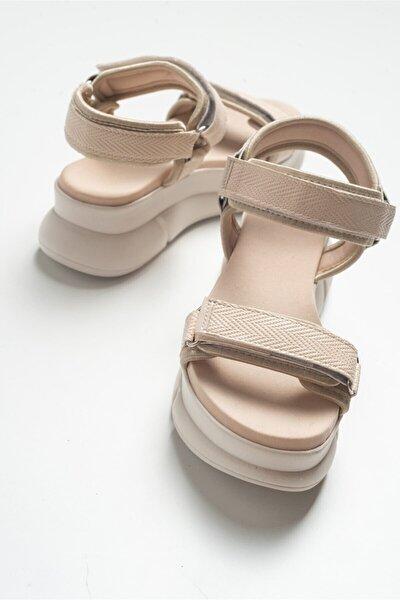 4760 Bej Kadın Sandalet