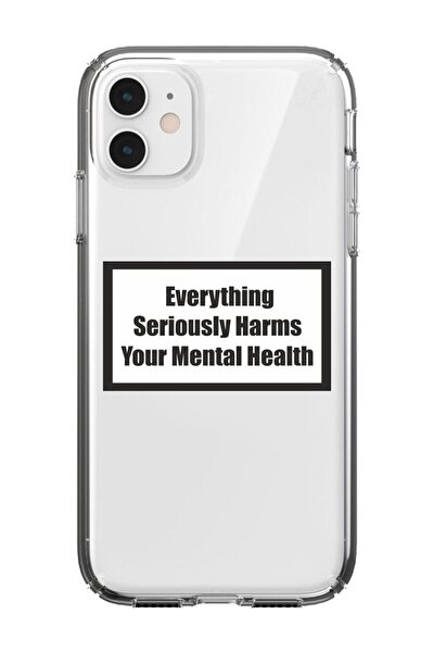 Iphone 11 Şeffaf Yazılı Tasarım Kılıf