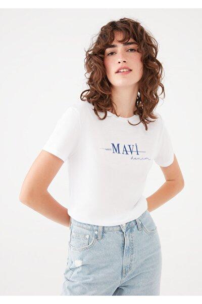 Baskılı Beyaz Tişört 1601196-620