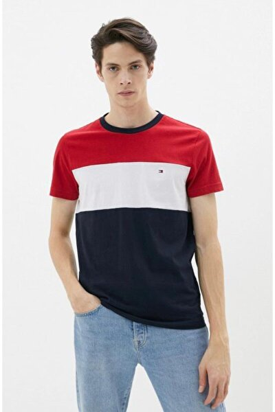 Capsule Collection White / Red Color Block T-shirt With Icon Logo Detail