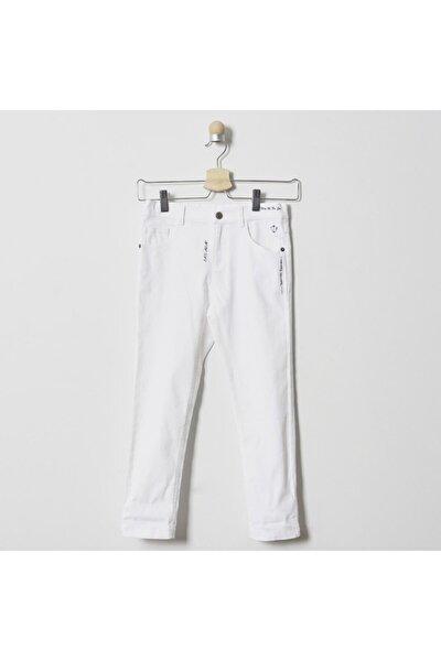 Kot Pantolon Erkek Çocuk Beyaz