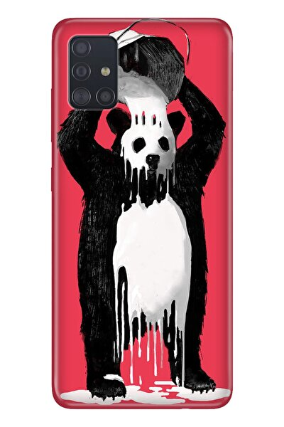 Galaxy A71 Pure Modern Desenli Silikon Kılıf Panda Kingo