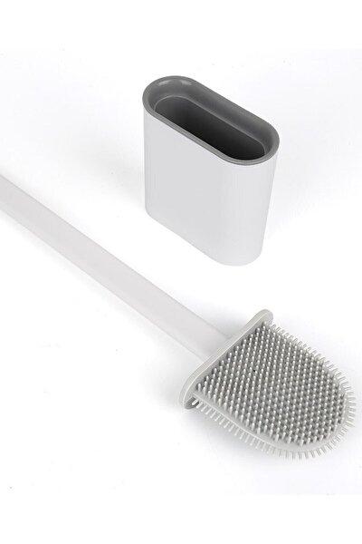 Silikon Banyo Tuvalet Klozet Temizleme Fırçası ve Tutucu