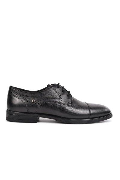 63399 Siyah Hakiki Deri Erkek Klasik Ayakkabı