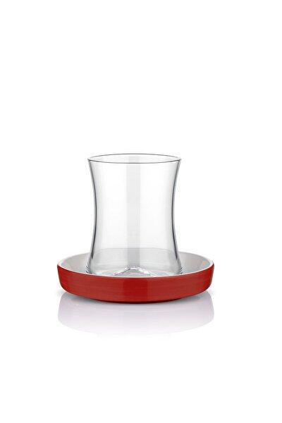 Istanbul Kahvaltı Kırmızı Çay Bardağı Seti 6 Lı