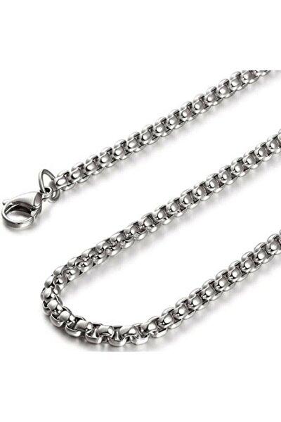 Gümüş 3 Mm. 70 Cm. Uzun Erkek Çelik Zincir Kolye