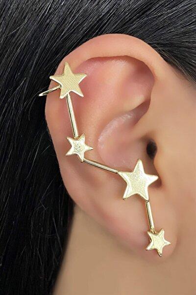 Altın Renk Yıldız Figürlü Kulak Aksesuarı (tek)