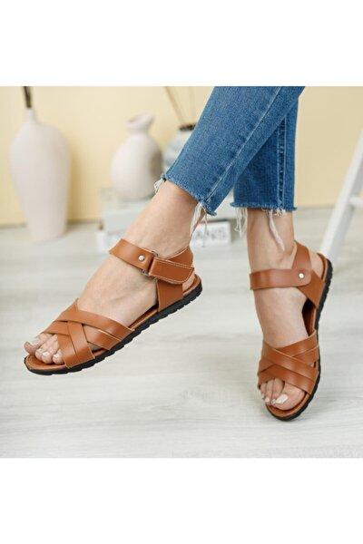 Kadın Sandalet Taba
