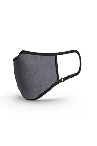 Gray TSE Belgeli-Ruco-Bac Antibakteriyel Sertifikalı-Sınırsız Yıkanabilir Kumaş Maske