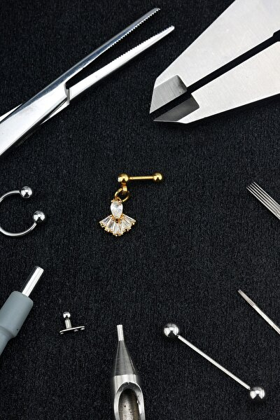 Cerrahi Çelik Kıkırdak Piercing 6'mm