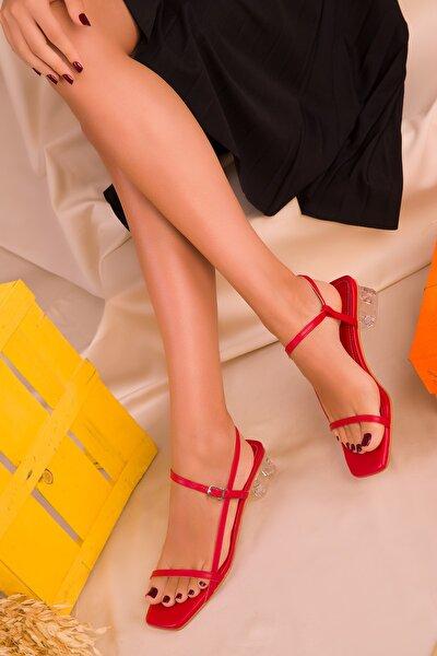 Kırmızı Kadın Klasik Topuklu Ayakkabı 16417