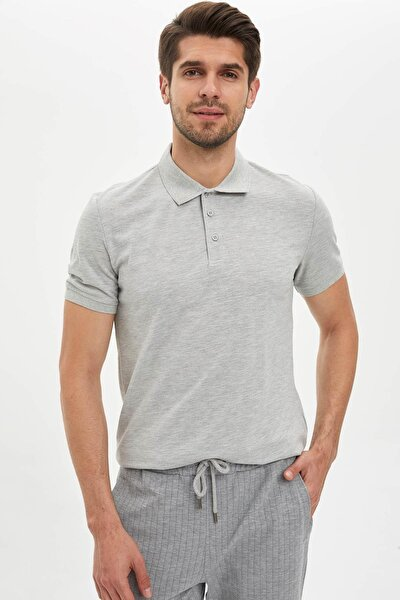 Regular Fit Polo Yaka Basic Tişört
