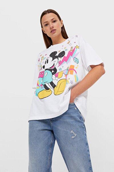 Oversize Disney Baskılı T-shirt