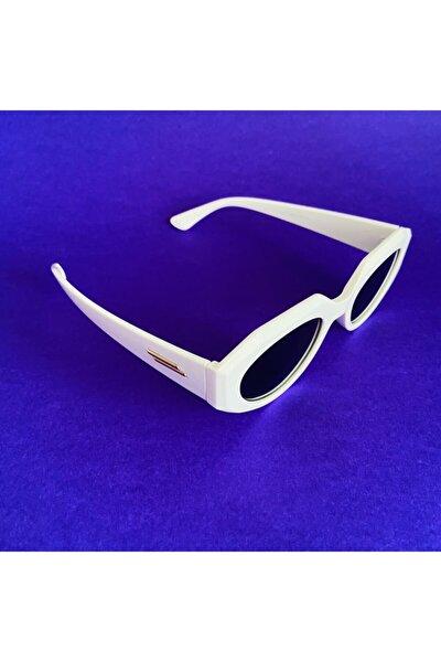 Unisex Beşgen Retro Güneş Gözlüğü