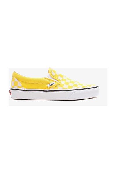 Classic Slip-On Checkerboard Kadın Sarı Sneaker