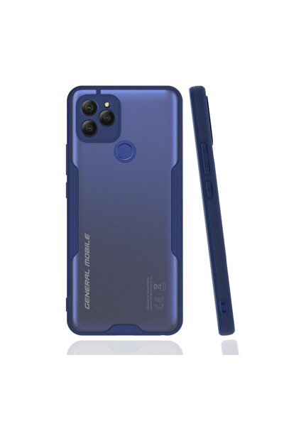 General Mobile Gm21 Uyumlu Kamera Korumalı Colorful Kapak - Lacivert