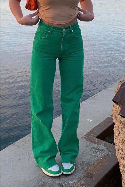 Mad Girls Yeşil Palazzo Jean Mg1189